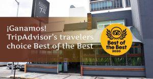 Certificado de excelencia Tripadvisor Travelers' Choice 2020